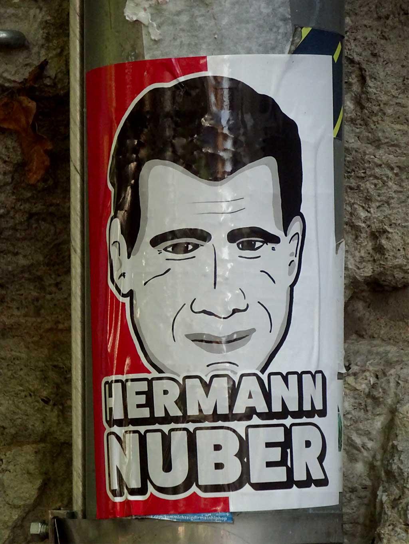 Aufkleber mit Legenden der Offenbacher Kickers - Hermann Nuber