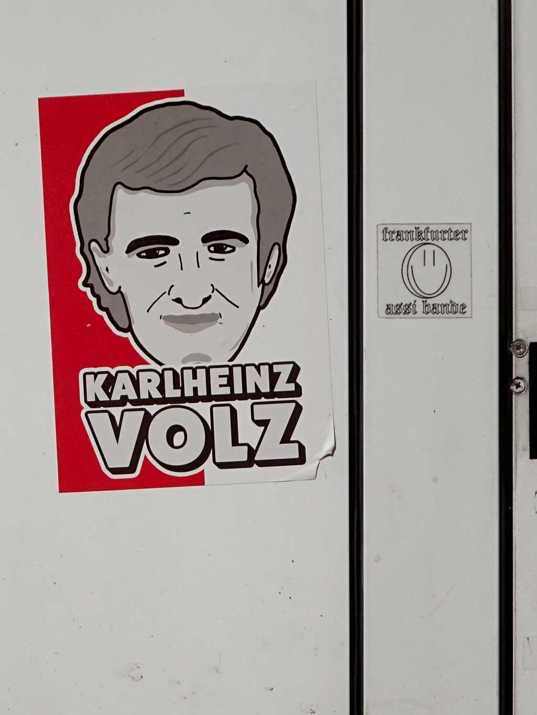 Aufkleber mit Legenden der Offenbacher Kickers - Karlheinz Volz
