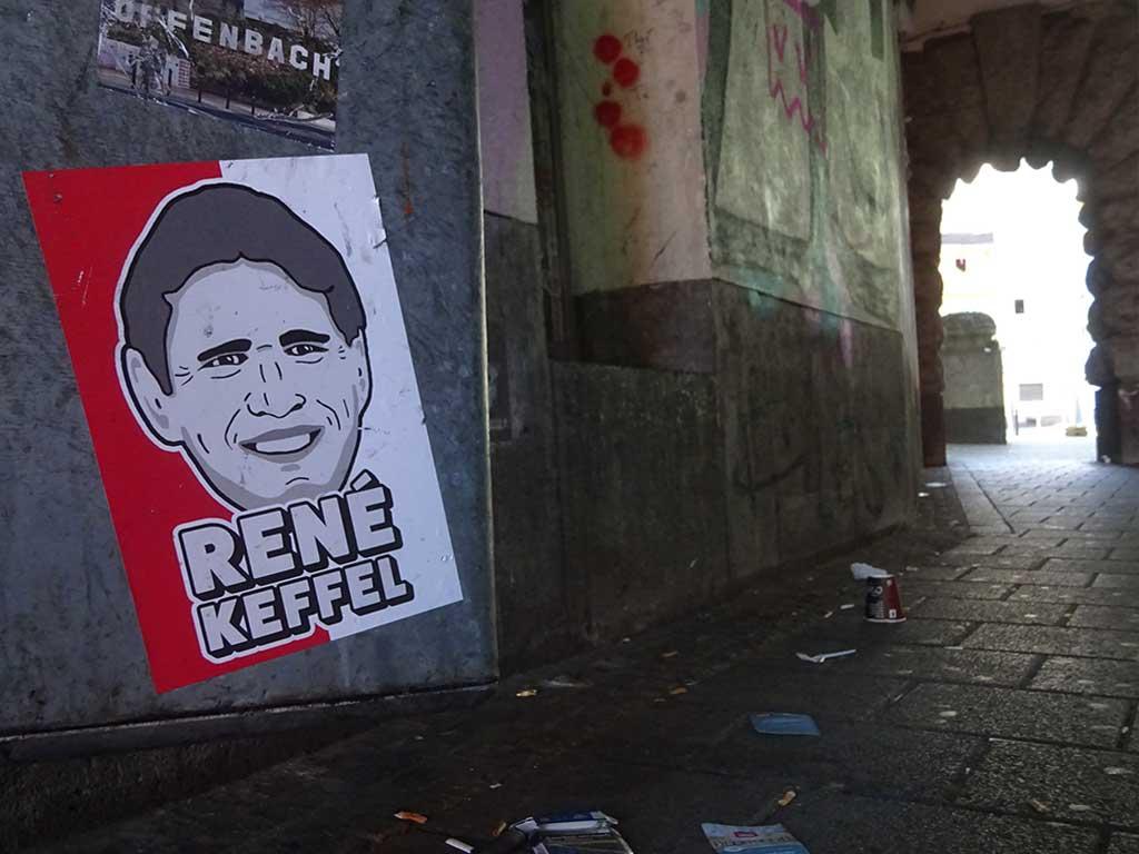 Aufkleber mit Legenden der Offenbacher Kickers - René Keffel