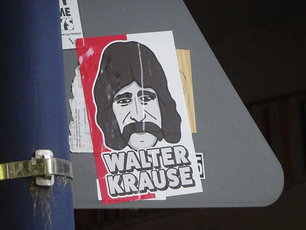 Aufkleber mit Legenden der Offenbacher Kickers - Walter Krause