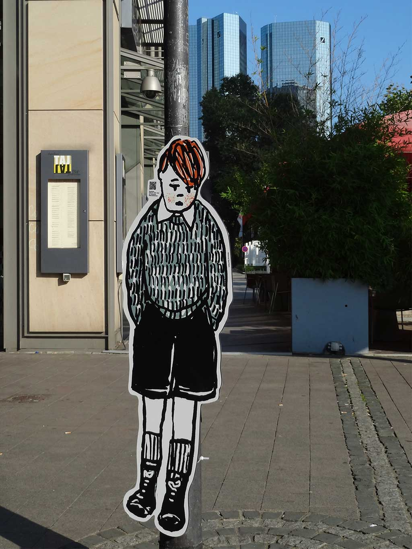 Josef Einhorn - Aufsteller im Bahnhofsviertel - Kinderemigration aus Frankfurt