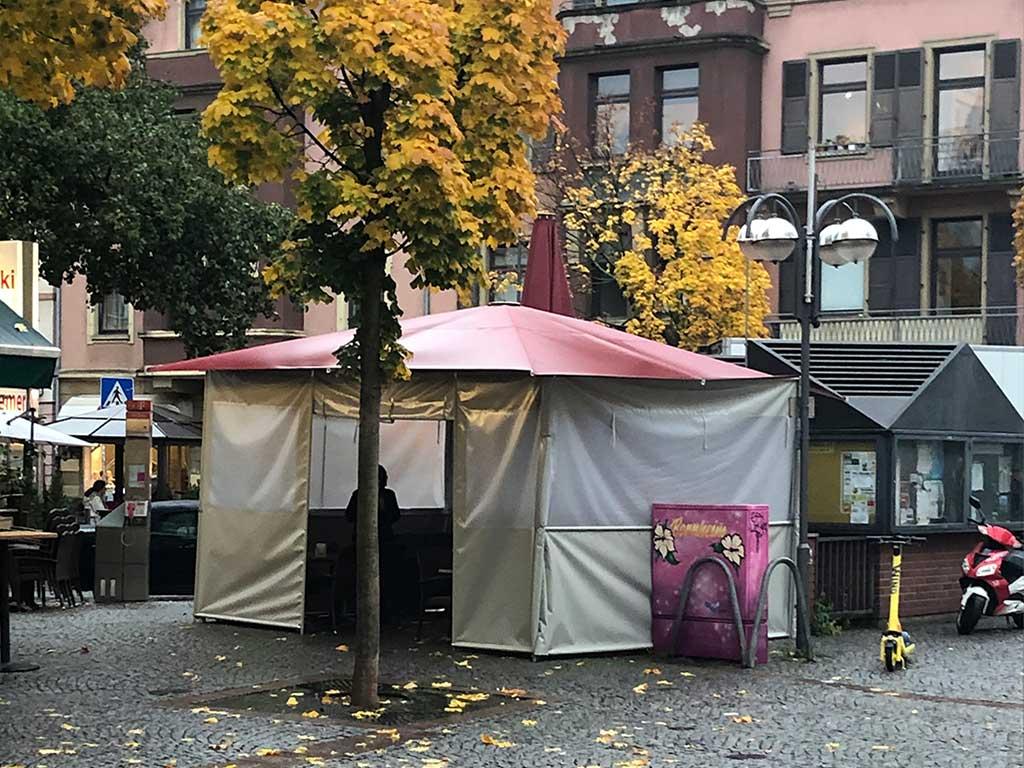 Außengastronomie zu Corona-Zeiten in Frankfurt-Bornheim