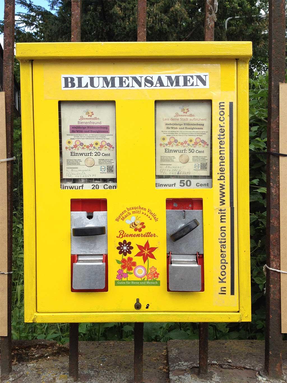 Automat für Blumensamen in Frankfurt