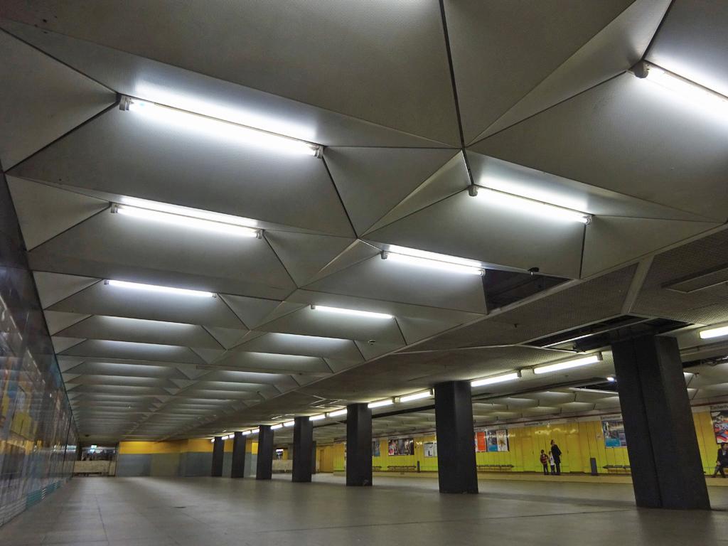 B-Ebene der U-Bahn-Station Eschenheimer Tor