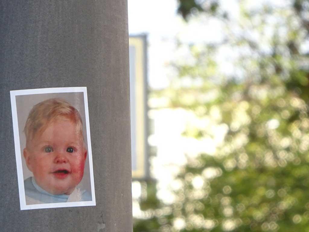 Aufkleber mit Gesicht eines Babys