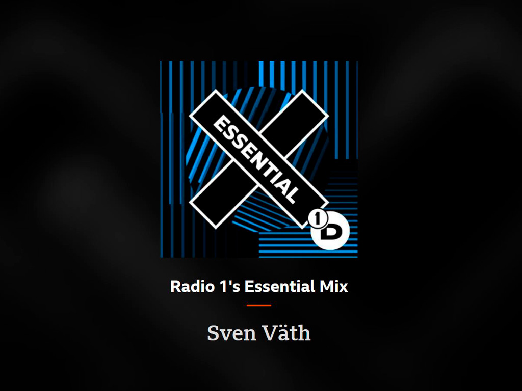 BBC Radio 1 Essential Mix - Sven Väth 2021