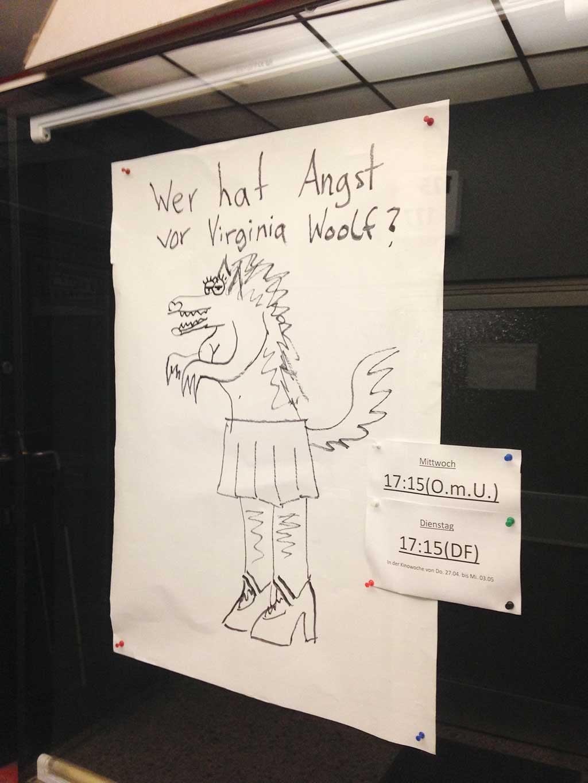 Handgemalte Filmplakate im Berger Kino in Frankfurt