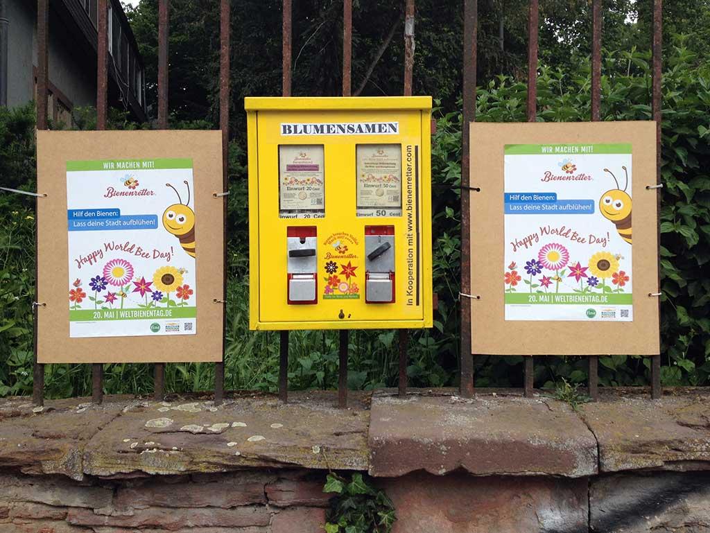 Blumensamenautomat am Günthersburgpark