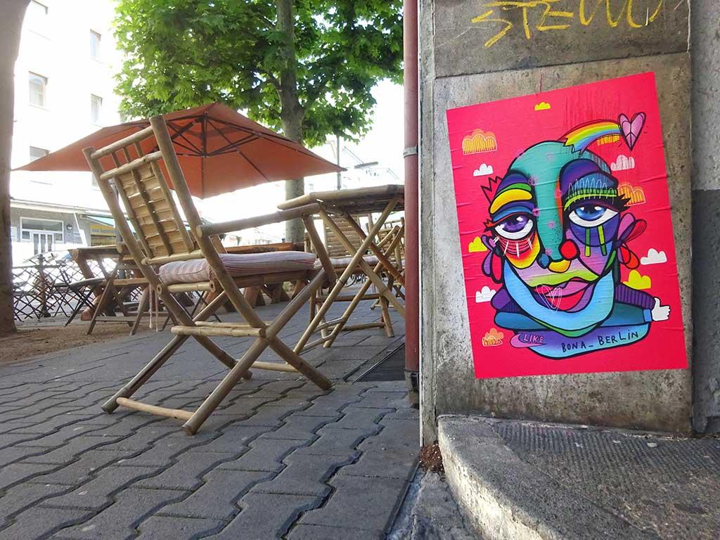 Bona Berlin Streetart in Frankfurt am Main