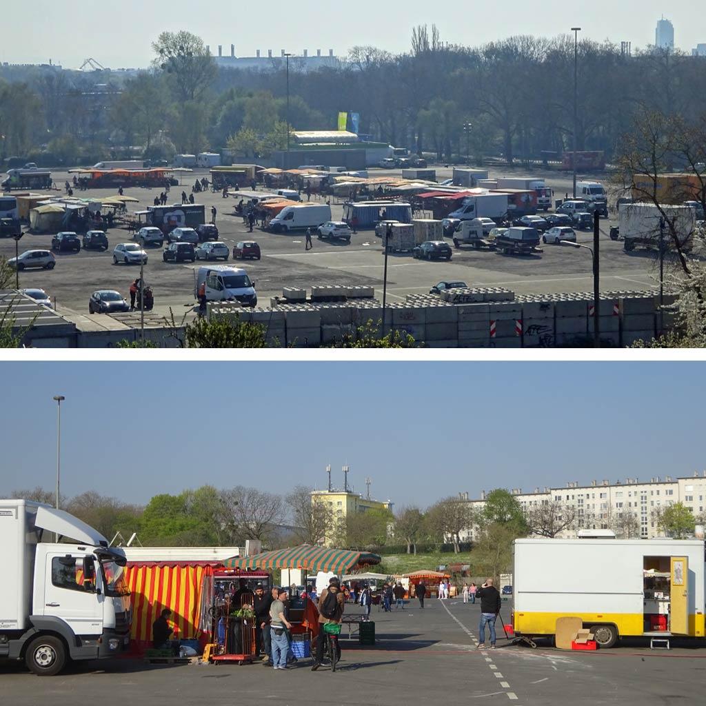 Bornheimer Wochenmarkt auf dem Festplatz am Ratsweg