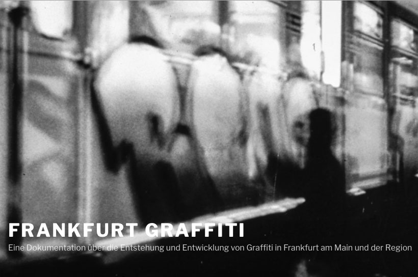 Website zum Buchprojekt über die Anfänge von Graffiti in Frankfurt