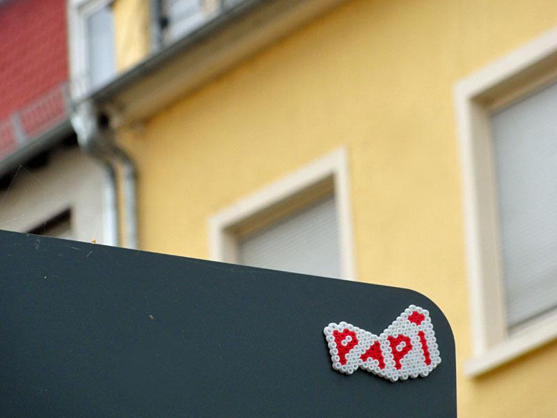 Bügelperlen-Streetart in Frankfurt am Main