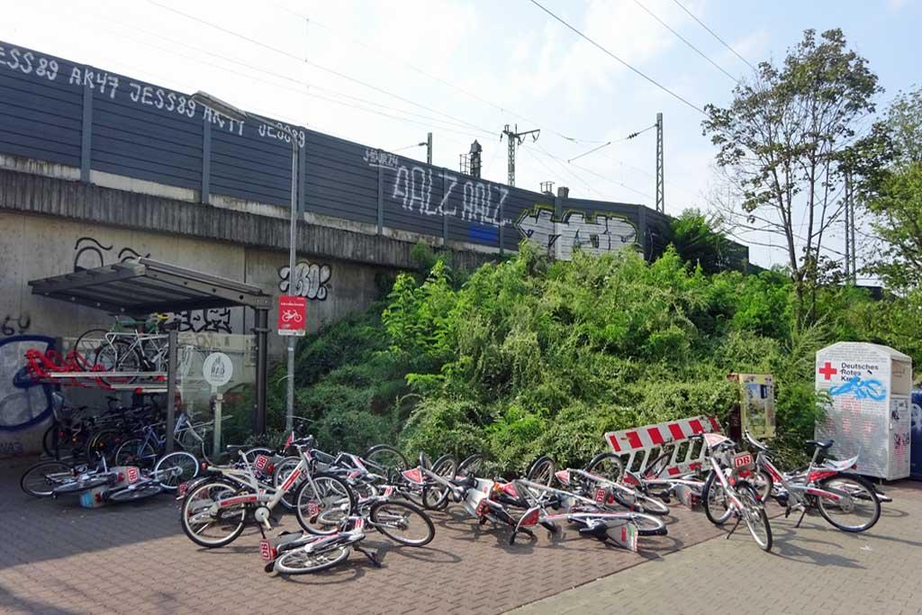 Call-a-Bikes am Boden