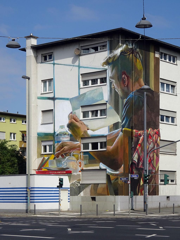Case Ma'Claim - Streetart in Frankfurt an Häusern bei der Carl von Weinberg Siedlung