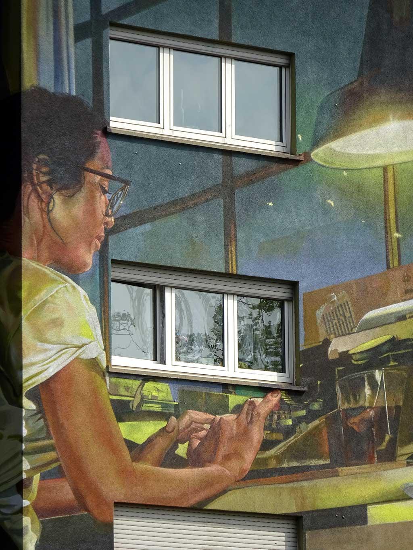 Streetart in Frankfurt - Mural von Case Ma'Claim
