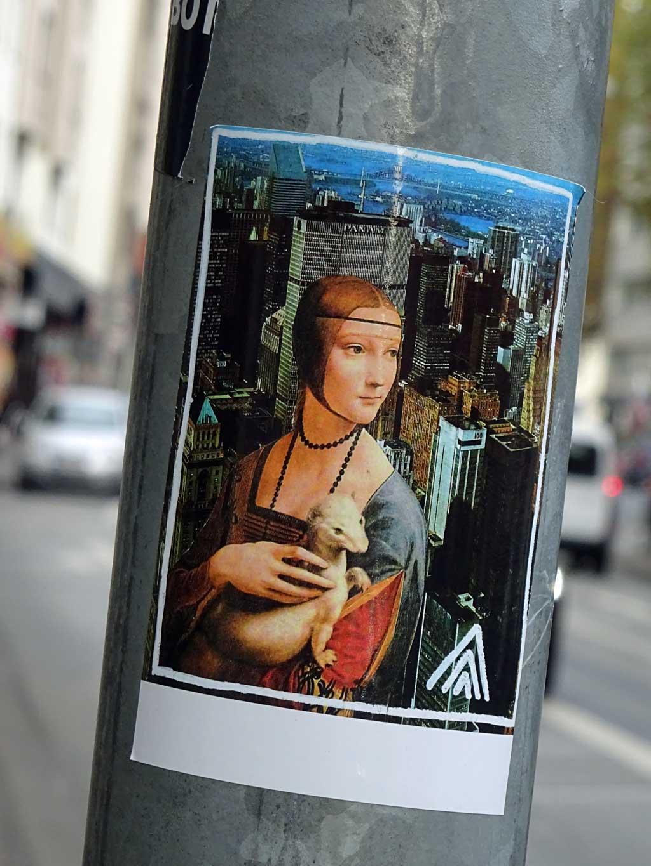 Collage mit Leonardo da Vincis Cecilia Gallerani