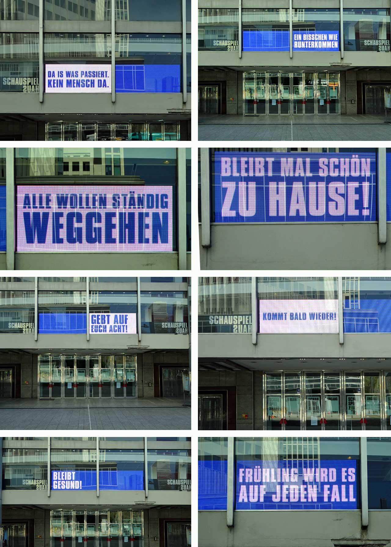 Cotona in Frankfurt - Botschaften beim Schauspiel Frankfurt am Willy-Brandt-Platz