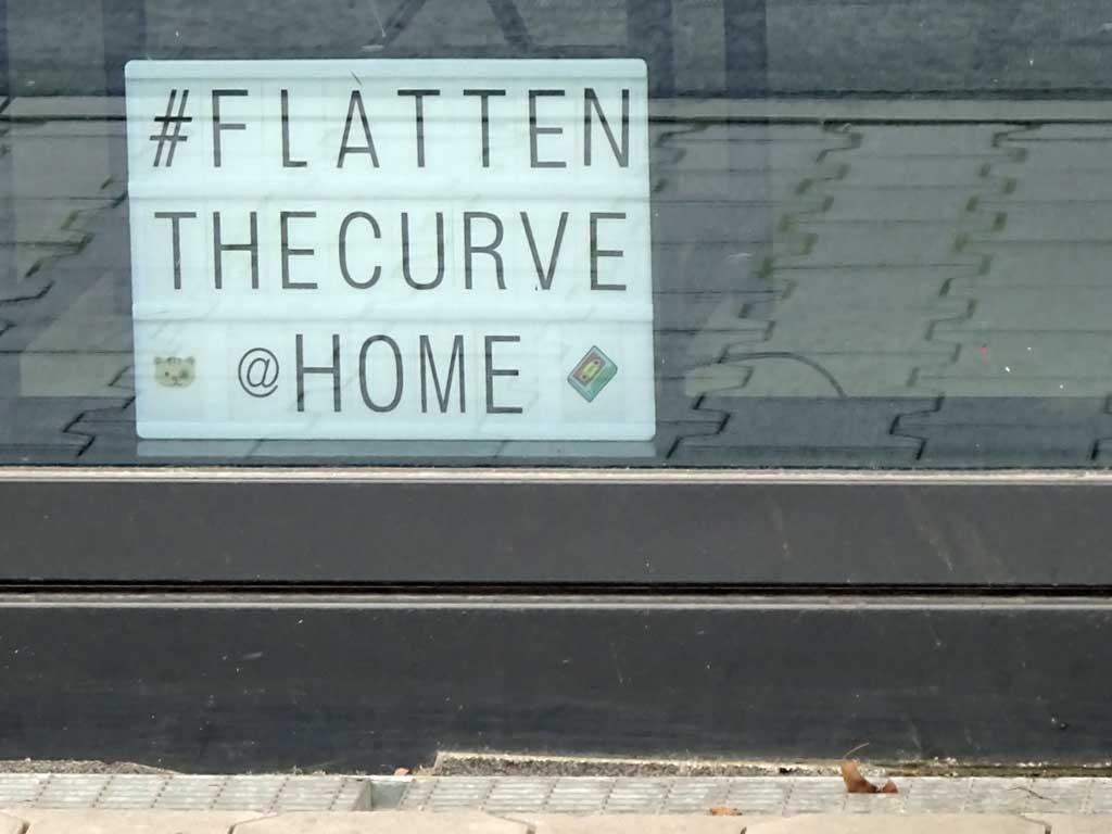 Corona in Frankfurt - Lightbox #FlattenTheCurve @ Home