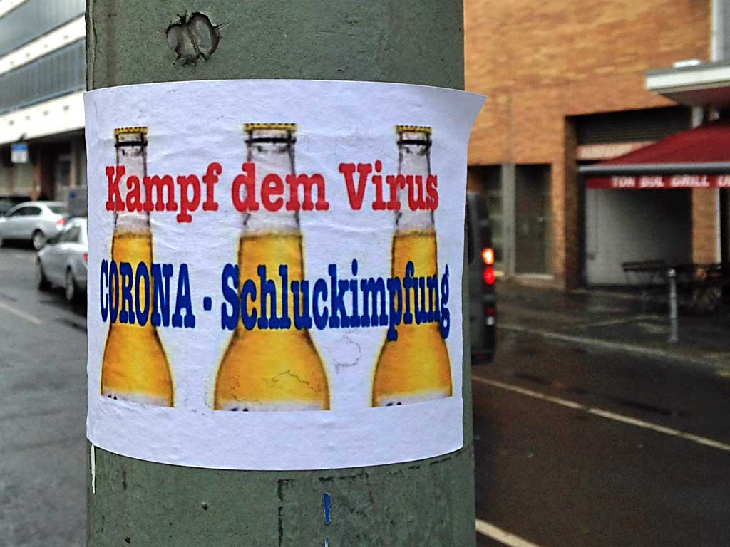 Corona in Frankfurt - Kampf dem Virus - Corona Schluckimpfung