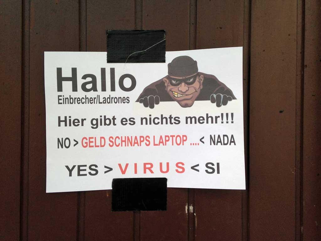 Corona in Frankfurt - Hallo Einbrecher / Ladrones