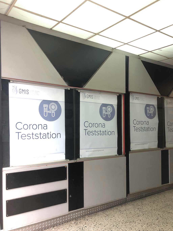 Corona Teststation statt Berger Kino
