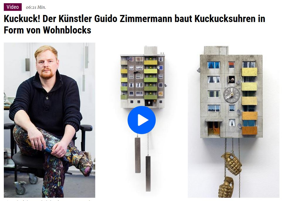 Bericht des hr-Fernsehens über die Kuckucksuhren von Guido Zimmermann