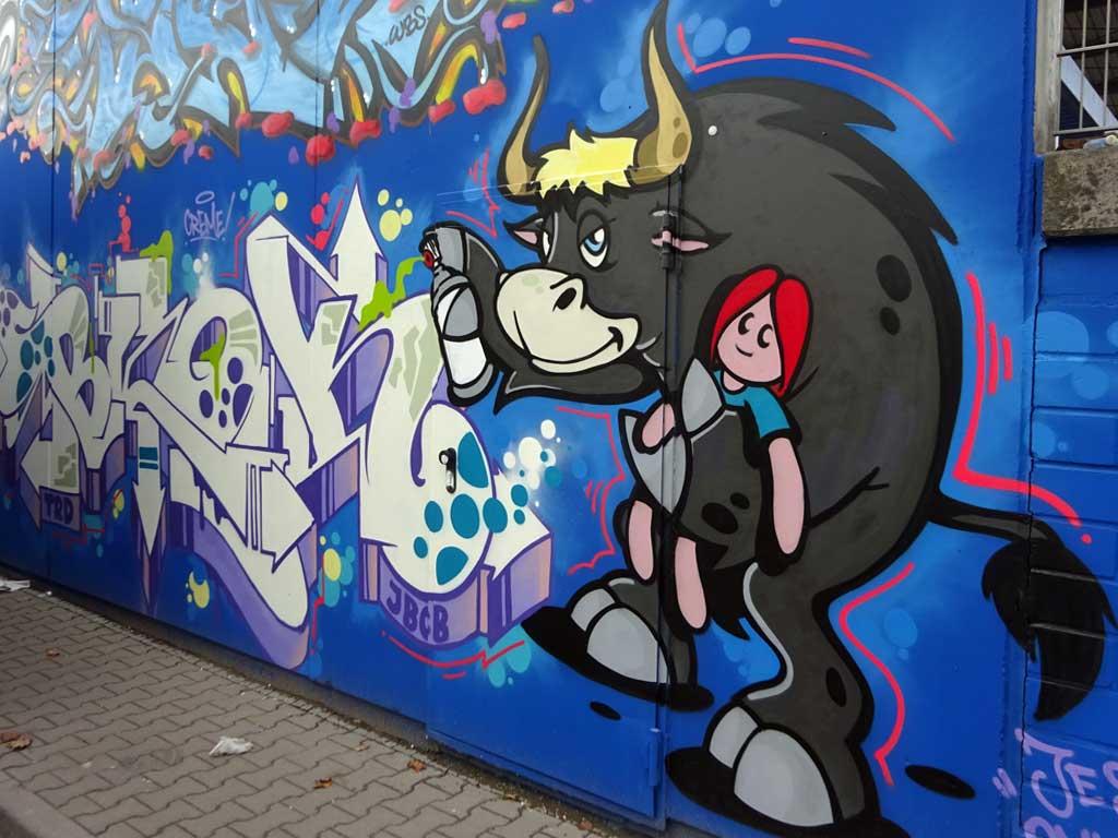 Das Dreckige Dutzend - Europa-Wall in Frankfurt
