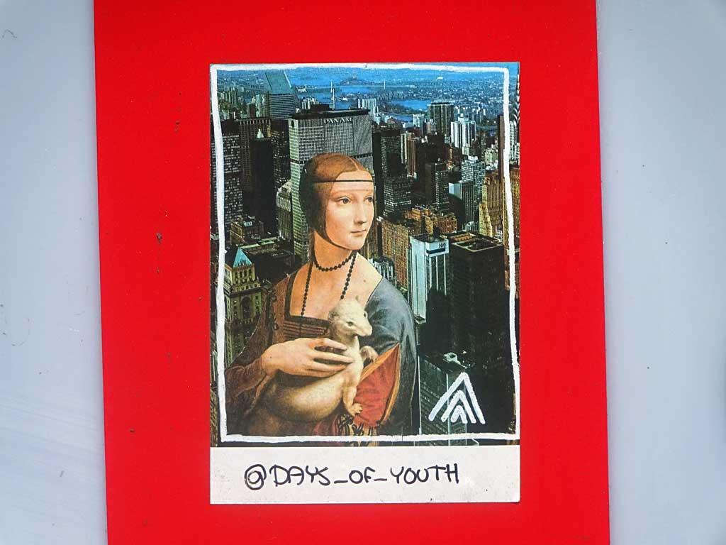 Klebende Kunst in der Straße - @days_of_youth