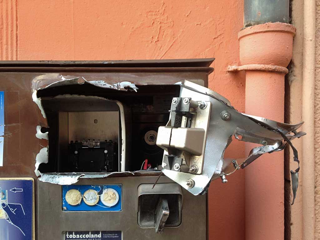 Zigarettenautomat-Vandalismus