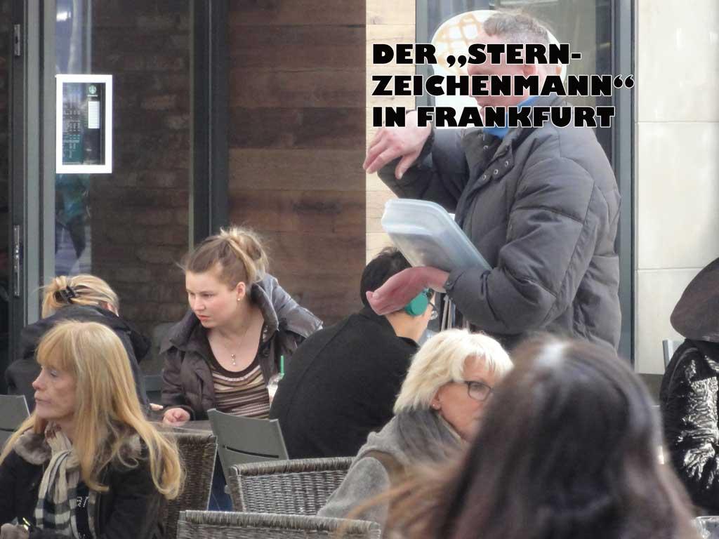 Der Sternzeichenmann in Frankfurt verkauft Bilder