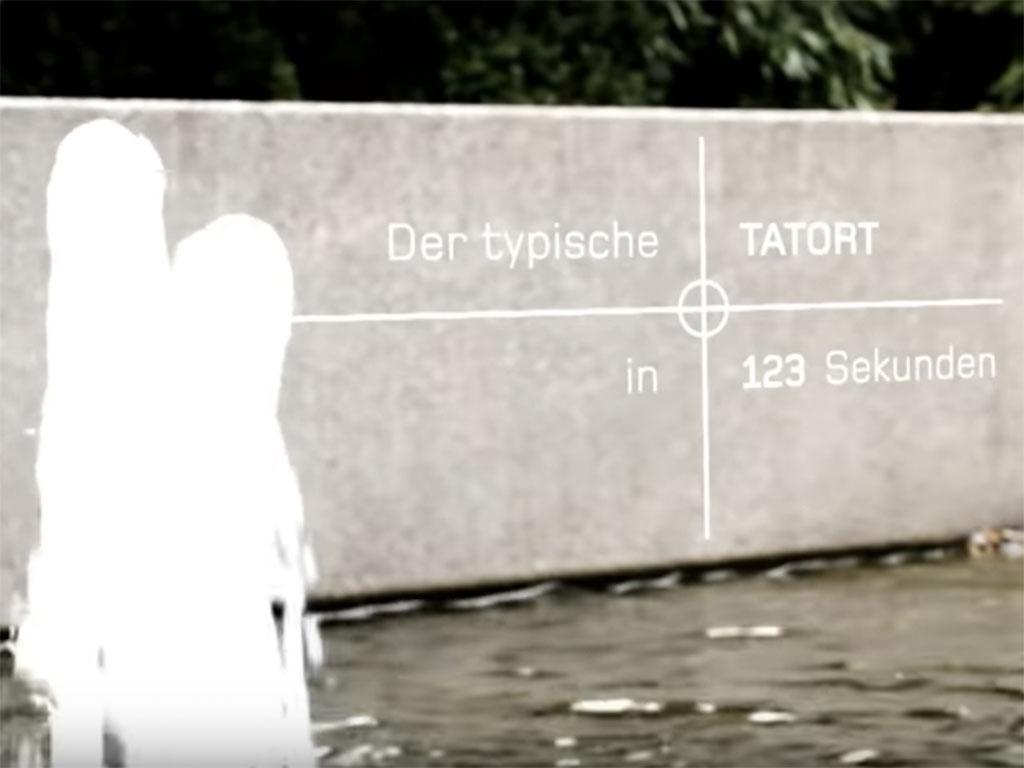 Der typische Tatort in 123 Sekunden