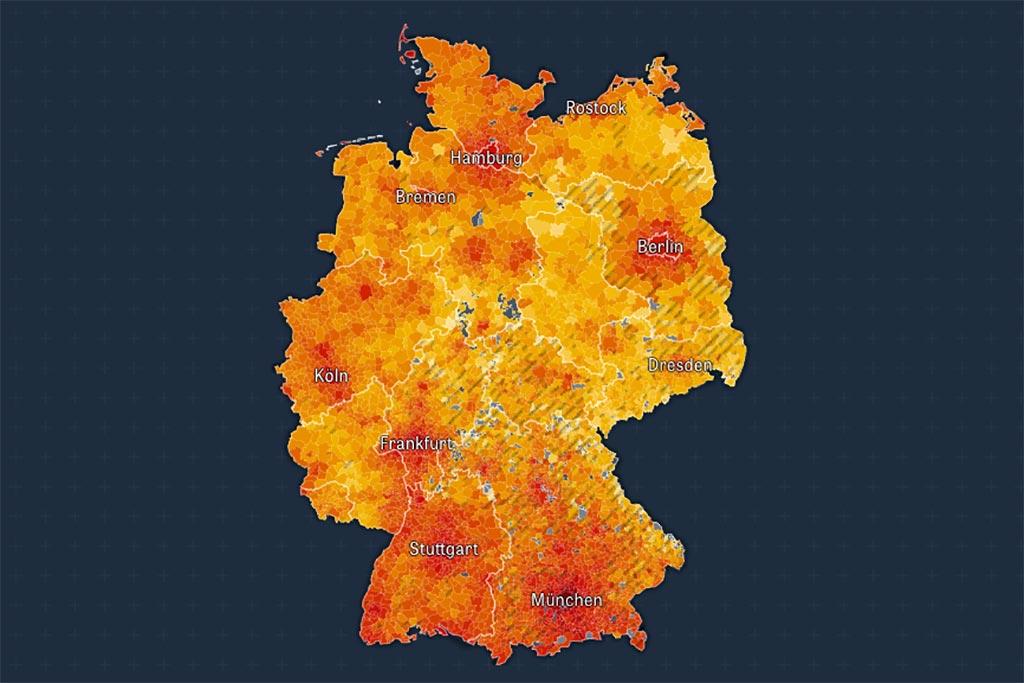 Deutschlandkarte Mietspiegel