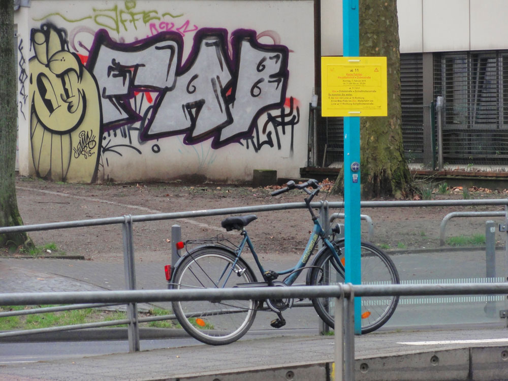 Die Straßenkunst und das Fahrrad