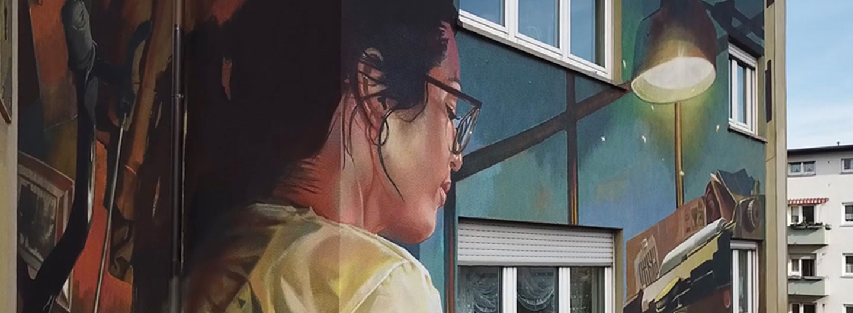 Video mit Drohnen-Aufnahmen zu Streetart in Frankfurt