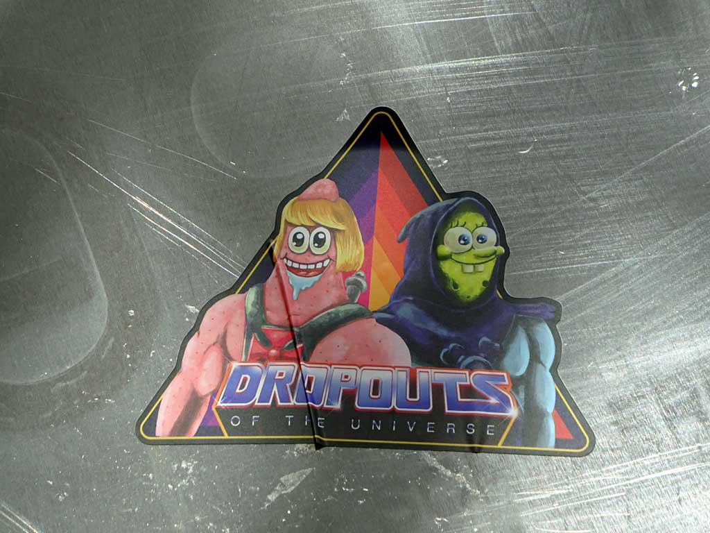 SpongeBob x Masters of the Universe = Dropouts of the Universe-Aufkleber