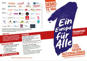 1 Europa für Alle Demonstration in Frankfurt