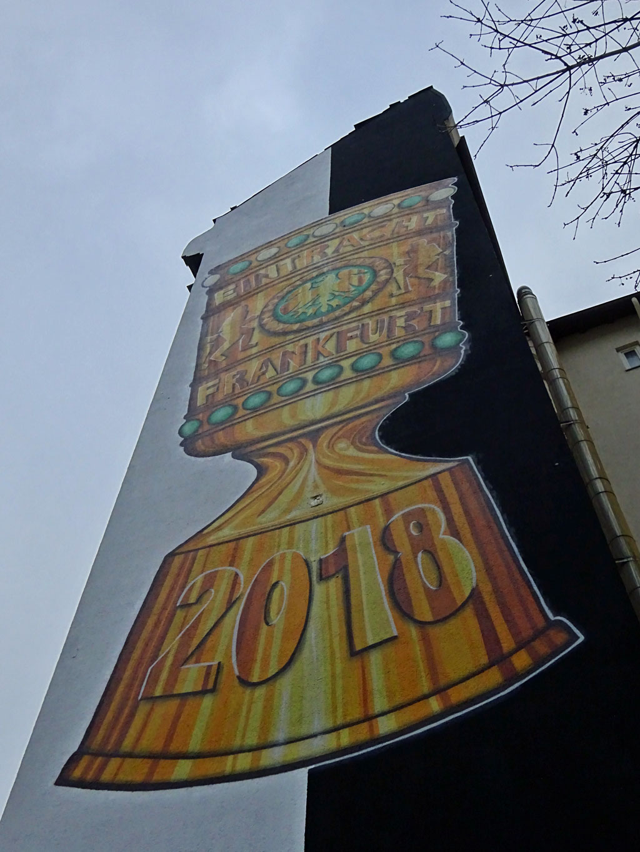 DFB-Pokal-Mural im Frankfurter Westend