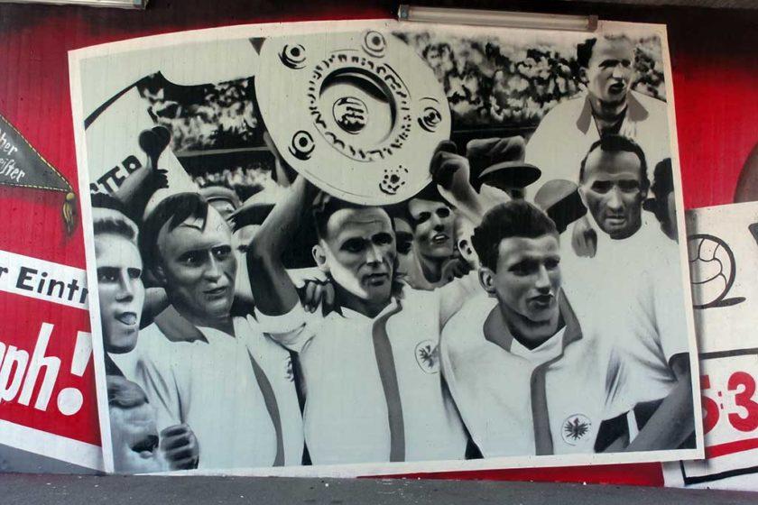 Eintracht Frankfurt Deutscher Meister 1959 Graffiti