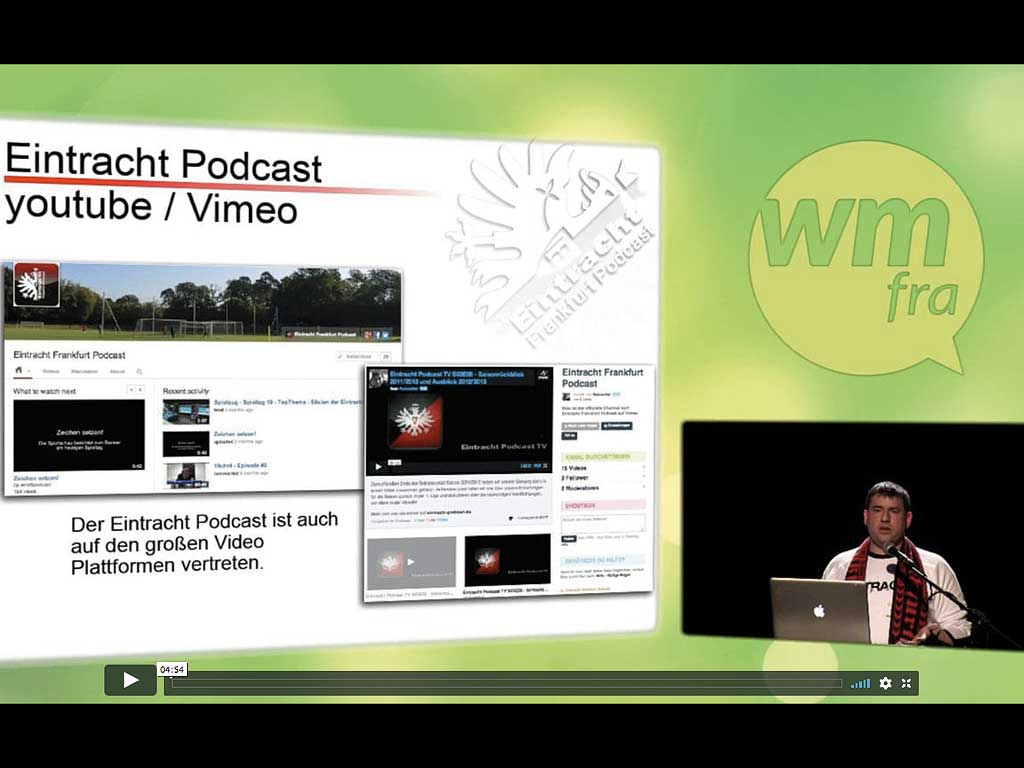 Präsentation beim WMFRA - Eintracht Frankfurt Podcast