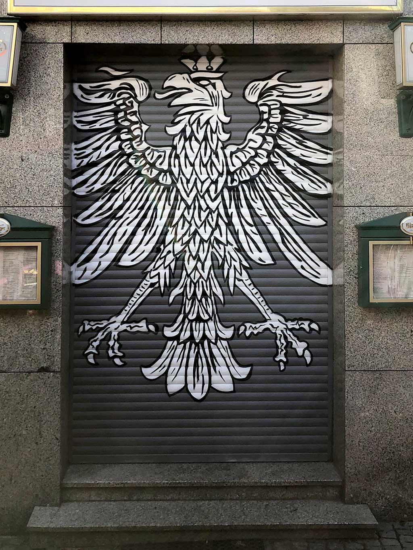 Eintracht Frankfurt Shutter Art in Frankfurt-Bornheim