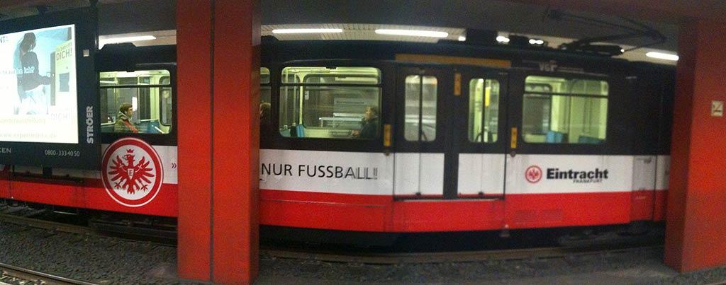 U-Bahn der VGF zum Verein Eintracht Frankfurt