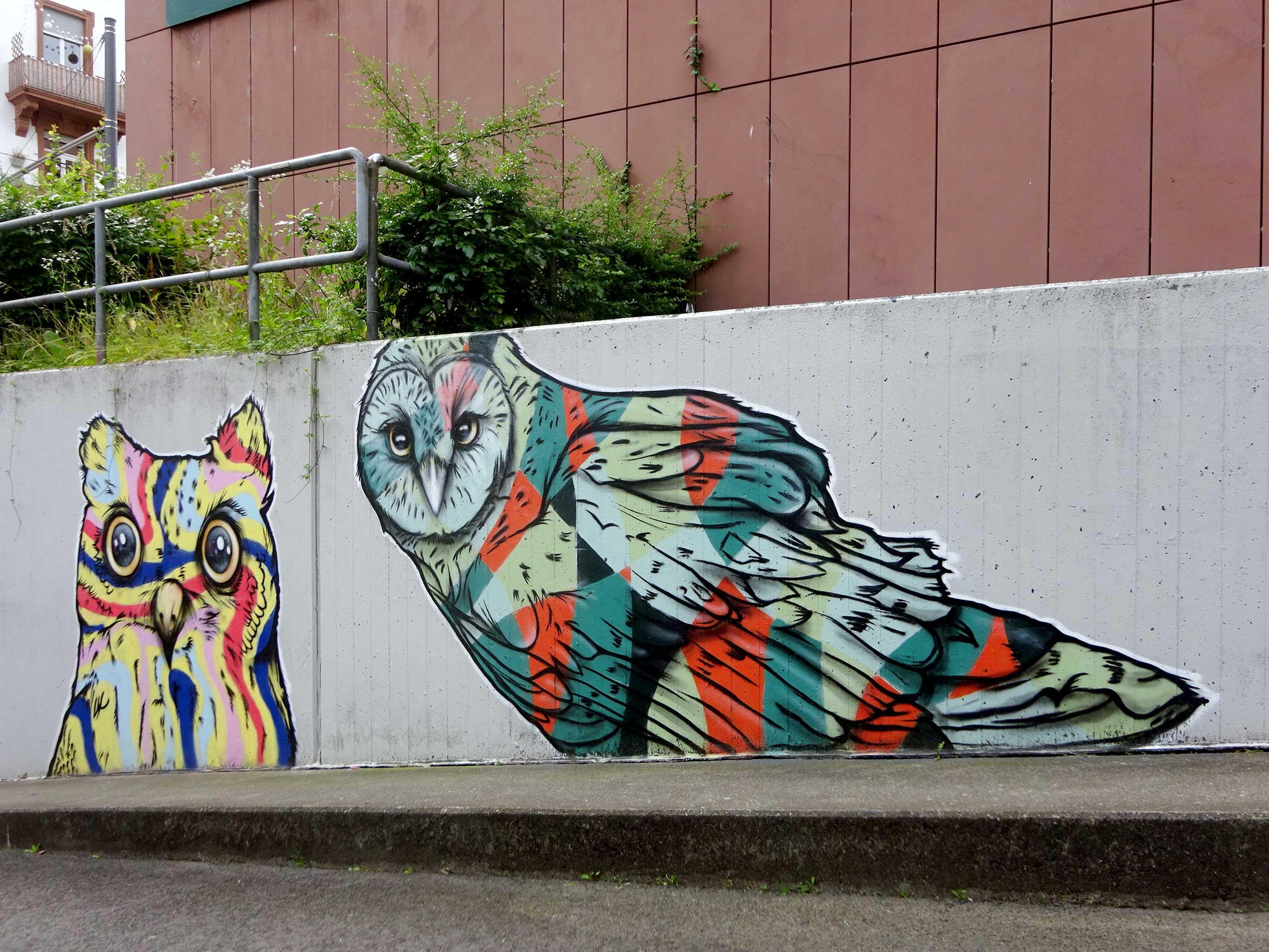 Eulen an der Musterschule in Frankfurt am Main