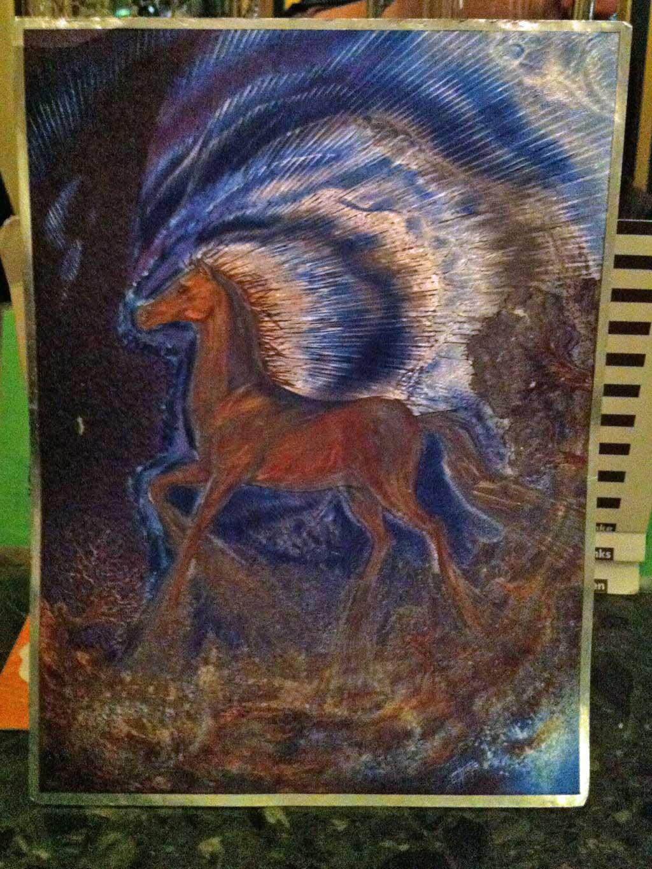 Fantasybild mit Pferdemotiv