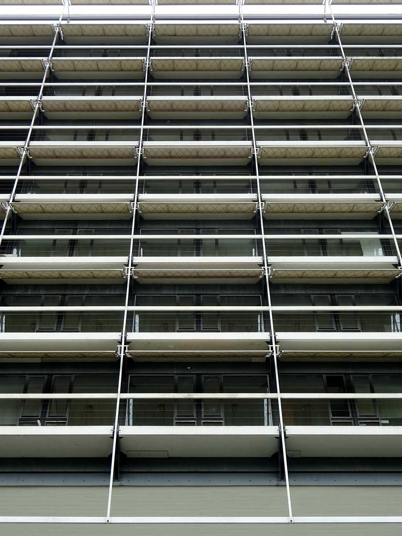Fassade des Olivetti-Turms in Frankfurt