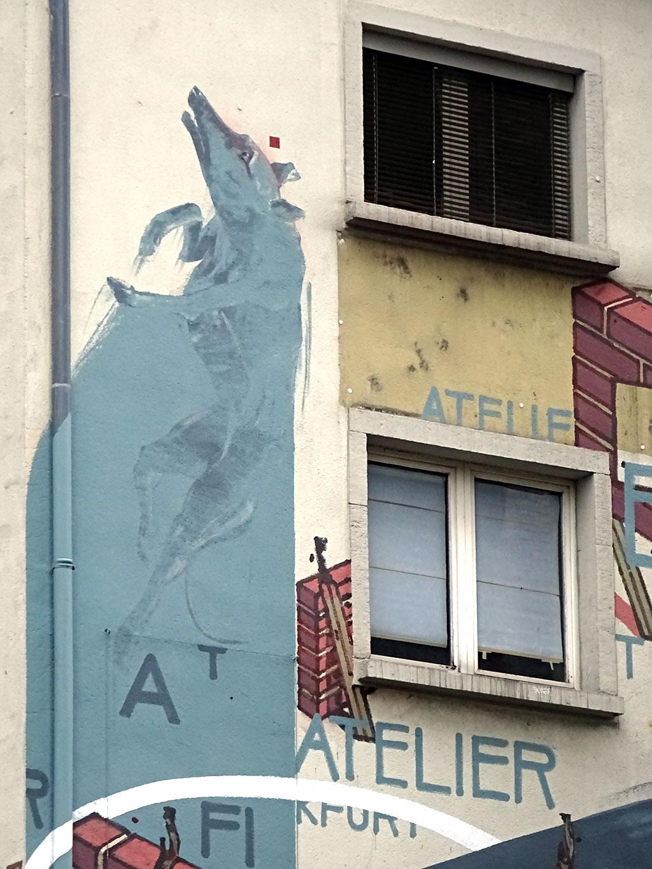 Fassadenkunst am Aterlier Frankfurt
