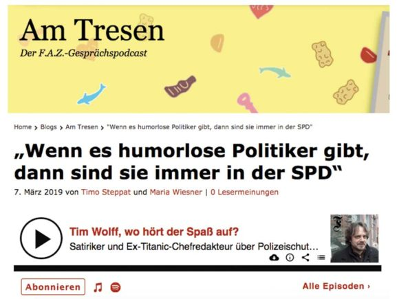 "FAZ-Podcast ""Am Tresen"" mit Tim Wolff"