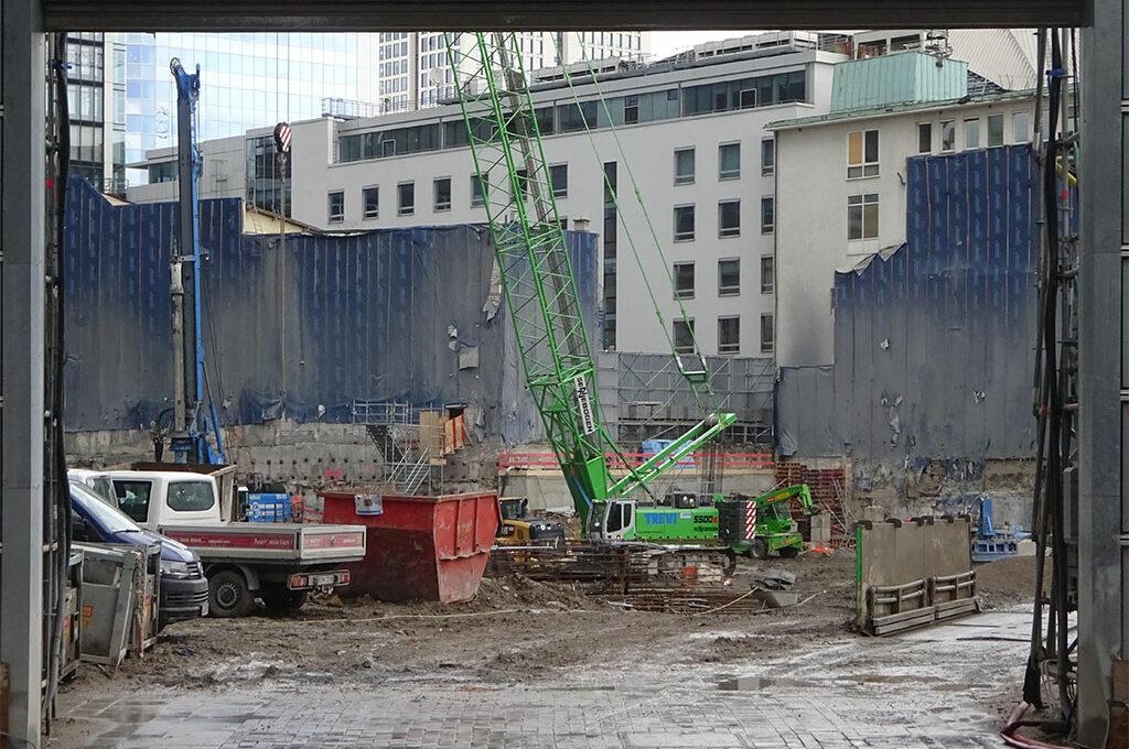 Baustelle des Neubau-Projekts FOUR FRANKFURT