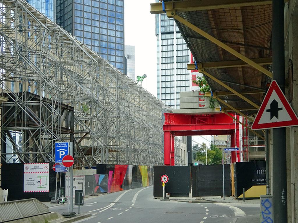 Four Baustelle in der Junghofstraße in Frankfurt