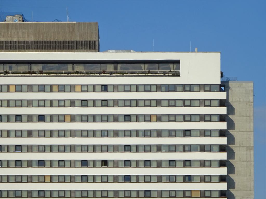 Fassade des Hotel Intercontinental in Frankfurt