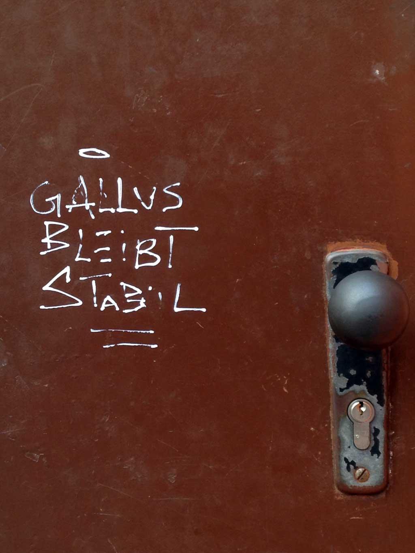 Gallus bleibt stabil